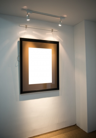 modern interior with frame on the wall. Stock Photo