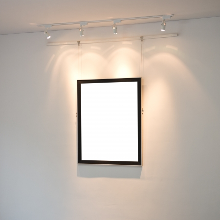 modern interior with frame on the wall. photo