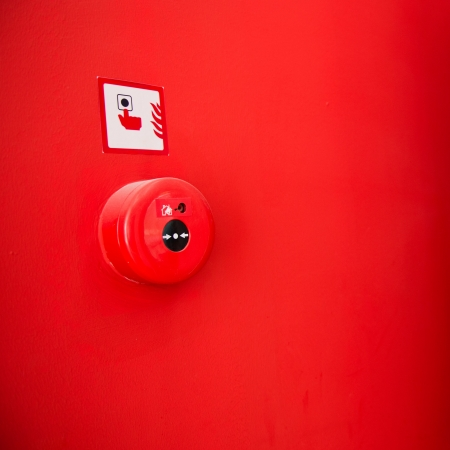 fire protection: Fire alarm on the wall.