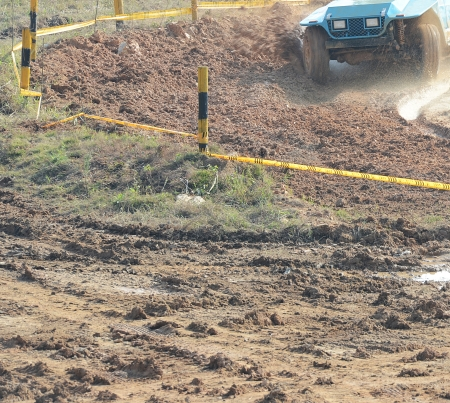 Driver competing in an off-road 4x4 competition. Stock Photo - 20027959