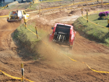 Driver competing in an off-road 4x4 competition. Stock Photo - 20028090