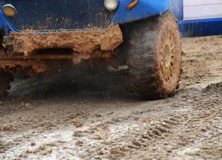close-up shot of wheel in dirt. Stock Photo - 20038447