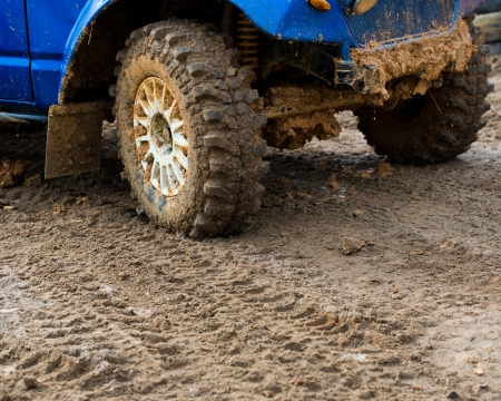 close-up shot of wheel in dirt. Stock Photo - 20038456