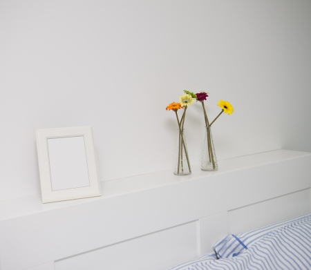 detail of modern double bedroom. photo