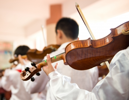 inspirations: The pupils playing the violin.