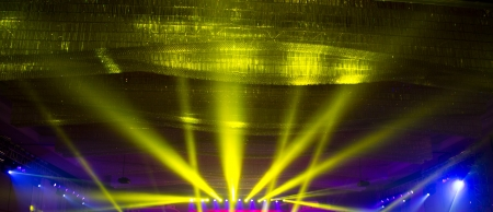 special events: spotlights on a theatre stage. stage lights