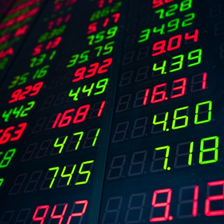 Display of Stock market quotes in China. Stock Photo - 20228849