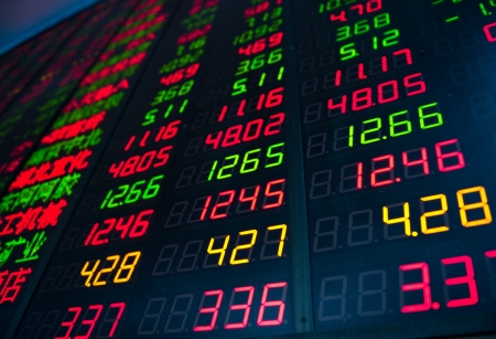 Display of Stock market quotes in China. Stock Photo - 20228861