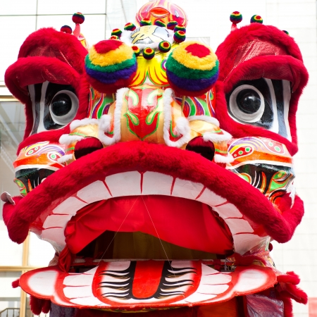 lion dance: traditional Chinese new year lion.