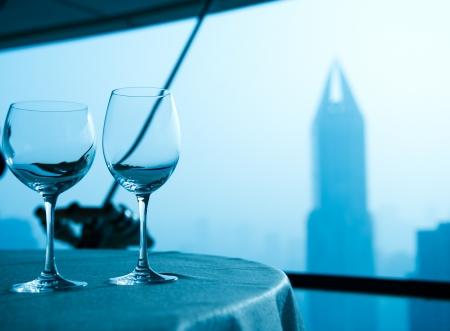 goblet: Table set for an elegant dinner.
