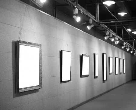 Gallery Interior with empty frame on wall Stock Photo - 22837224
