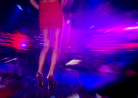 mysterious woman: Dancing people in a disco, cheery party.