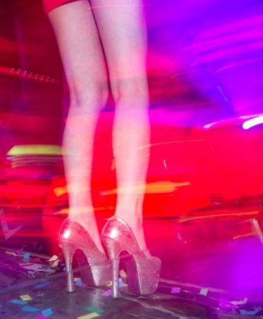 woman dancing: Woman dancing in the nightclub.