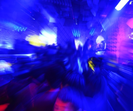 Dancing people in a disco, cheery party. photo