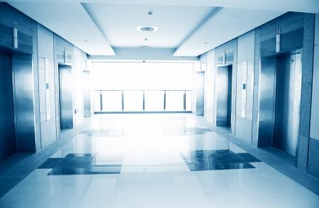 Modern design interior of elevator lobby.