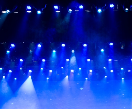 disco lighting in the stage. photo