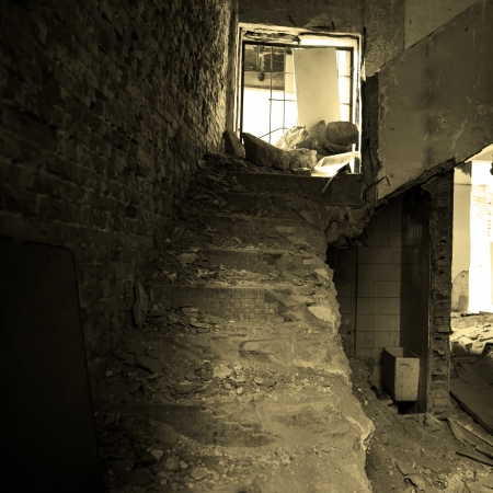 Interior of an abandoned house. photo
