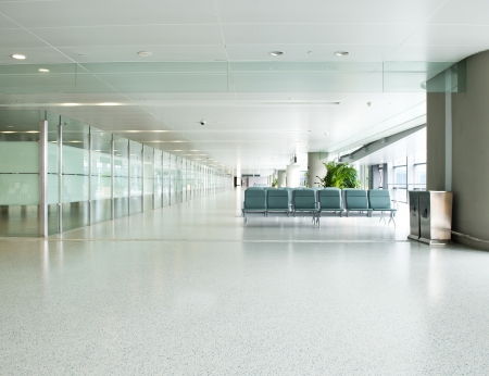 interior office: Empty departure lounge at the airport