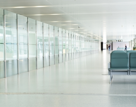 public hospital: Empty departure lounge at the airport
