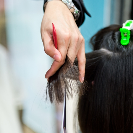 Asian woman at the hairdresser salon Stock Photo - 22994190