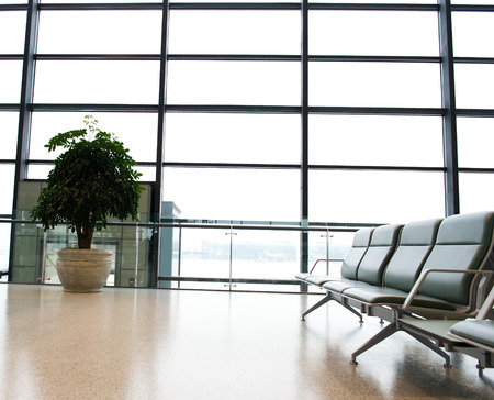 business lounge: Empty departure lounge at the airport