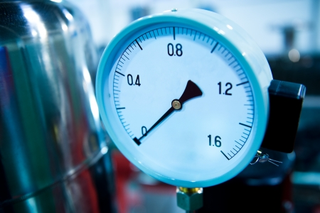 barometer: Pressure gauge, measuring instrument close up.