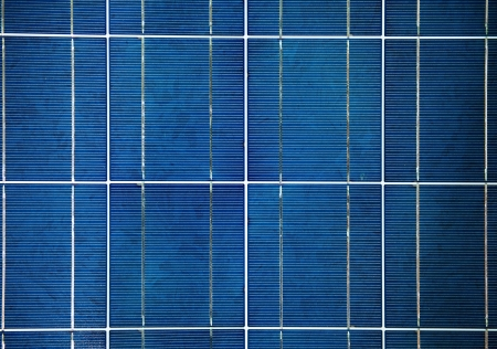 close-up of solar panels. photo
