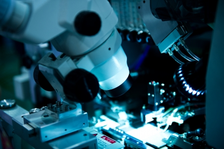 Centrado Ion Beam m?quina para procesamiento de semiconductores  Foto de archivo