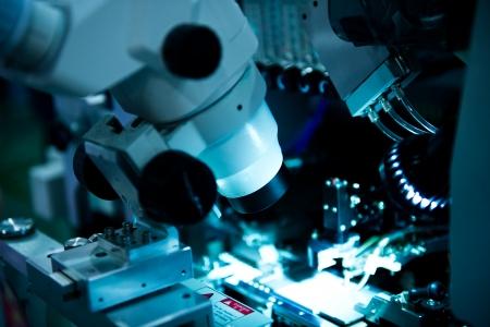 componentes: Centrado Ion Beam m?quina para procesamiento de semiconductores  Foto de archivo