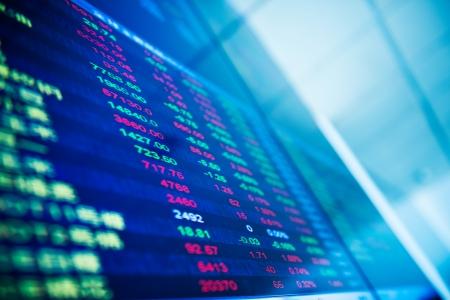 stock brokers: Visualizaci?n de cotizaciones del mercado de valores en China.