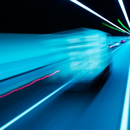 View from Side of high-speed car in the tunnel, Motion Blur photo