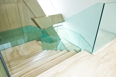 Luxury room with marble stairs. Stock Photo
