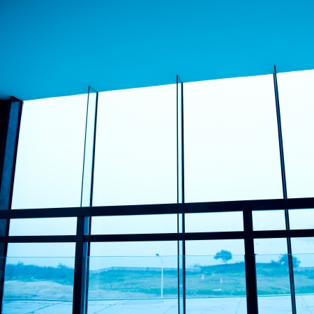 window in modern office building.  photo