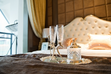 Romantic evening with champagne for Valentine's Day Stock Photo - 23087475