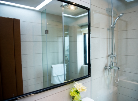 Interior of stylish modern bathroom Stock Photo - 23087676
