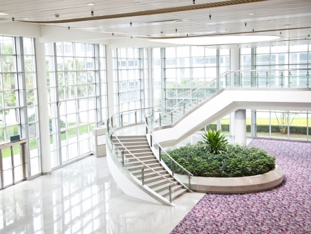 tile flooring: Modern architecture of large business conference center