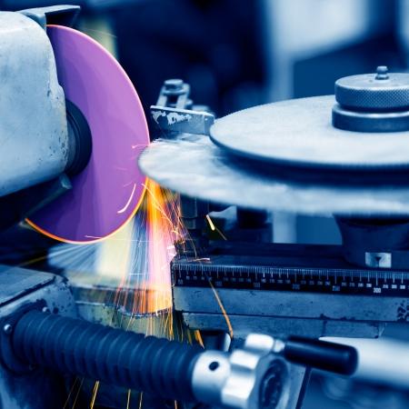 close-up of metal sawing.