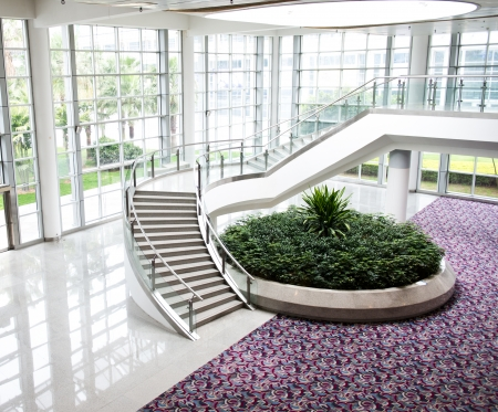 carpet and flooring: Modern architecture of large business conference center