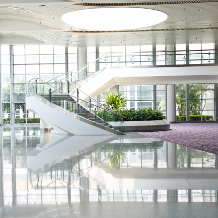 hallway: Modern architecture of large business conference center