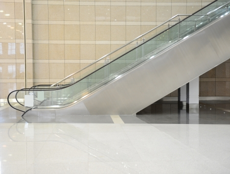 an escalator: Modern architecture of large business conference center