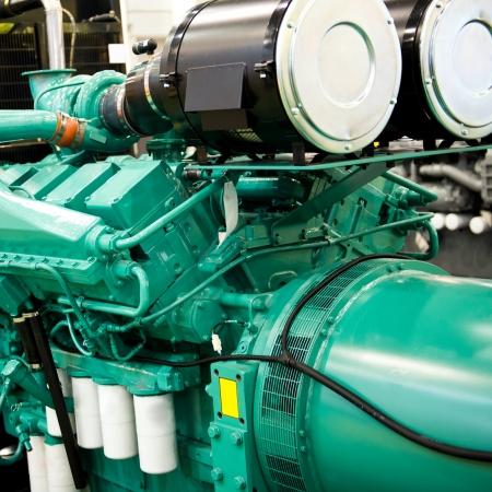 generator: part of large power generator.