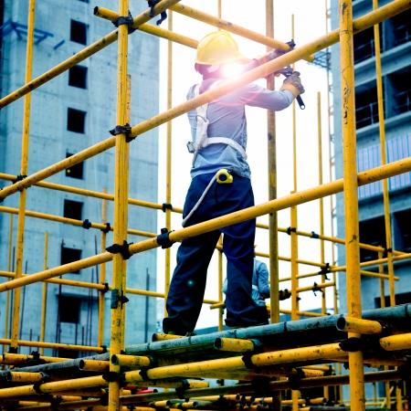 비계 작업 건설 노동자