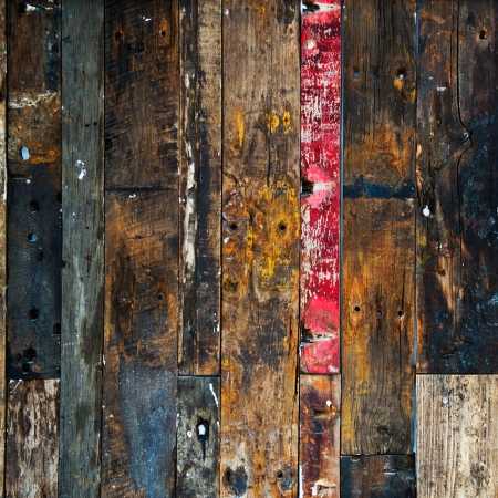 used: old, grunge wood panels used as background