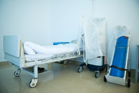 nursing unit: A vacant hospital room Stock Photo
