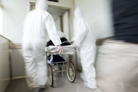 Rushing a patient to the emergency room. motion blur photo