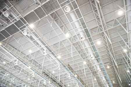 exhibition hall: modern glass roof inside office center