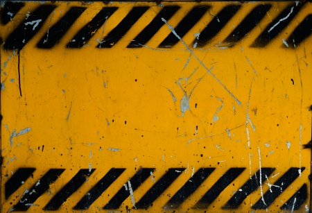 dangerous construction: Grunge construction sign for background. Stock Photo