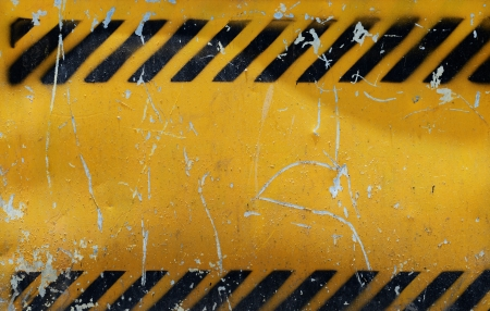 Grunge construction sign for background. photo