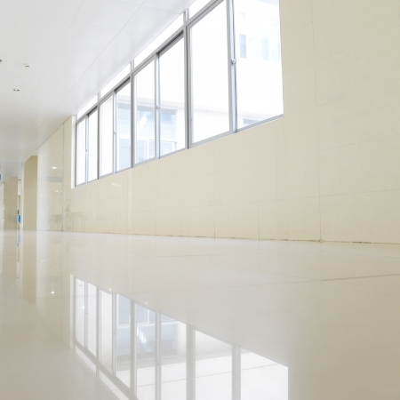 empty corridor in the modern building. photo