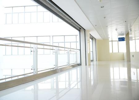 empty corridor in the modern building.